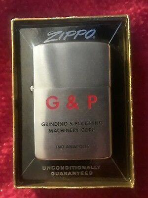 Vintage Advertising Zippo Lighter G & P Grinding & Polishing Machineery Corp