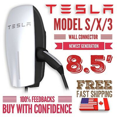 Tesla Wall Connector 8.5' Model S/X/3 Wall Charger -  2nd Gen