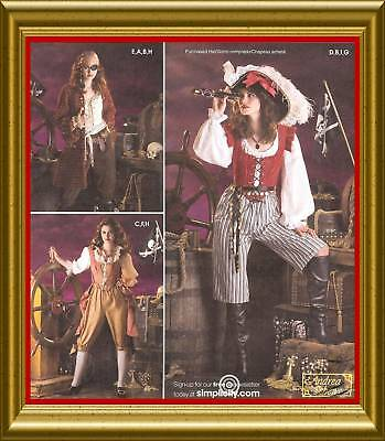 PATTERN for Lady Pirate Costume Simplicity 3677 14-20 Caribbean Captain Bustier