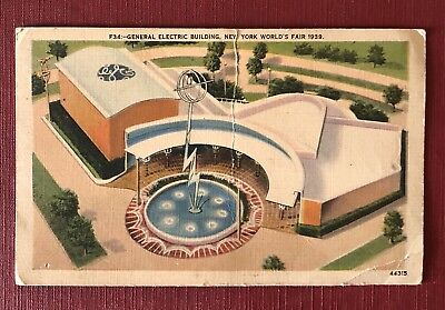 """US Collection """"GE Building"""" NY World Fair 1939 Post Card"""
