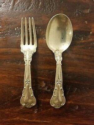 Vintage Sterling Child's Spoon and fork Gorham chantilly PAT95