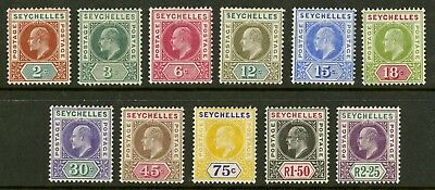 Seychelles  1903  Scott # 38-48  Mint Lightly Hinged Set
