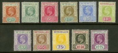 Seychelles  1906  Scott # 52-62  Mint Lightly Hinged Set