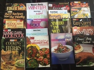 64 cookbooks in great condition including womens weekly, donna hay magazines