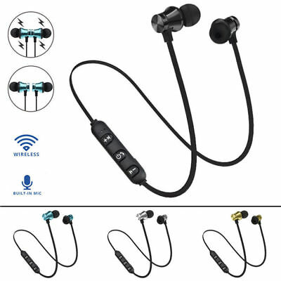 In-Ear Earbud Headphone Bluetooth 4.2 Stereo Earphone Headset Wireless Magnetic