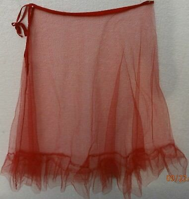 Woman's Tulle Red Period Slip