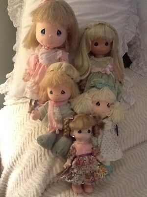 5 Precious Moments Dolls By Applause