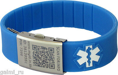Medical ID Bracelet with QR Code