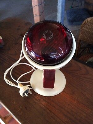 Vintage Philips Infraphil Heat Lamp. Bakelite With Anodised Handle. Working