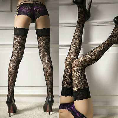 US STOCK Women Sheer Lace Top Stay Up Thigh-High Stockings Woman Pantyhose Socks