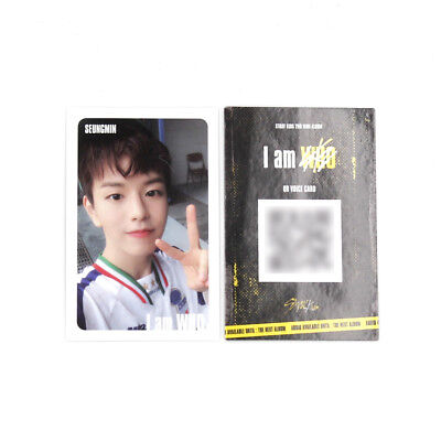 [Stray Kids]2nd mini album I am WHO Official QR Photocard/WHITE/Selfie/SEUNGMIN