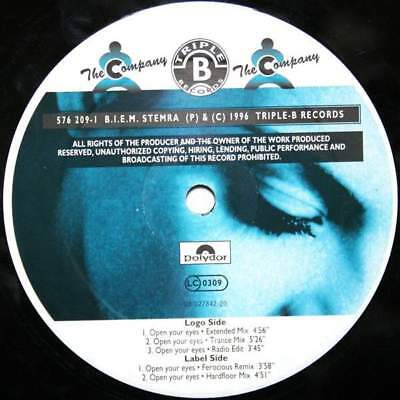 """12"""": The Company - Open Your Eyes - Triple-B Records - 576 209-1"""