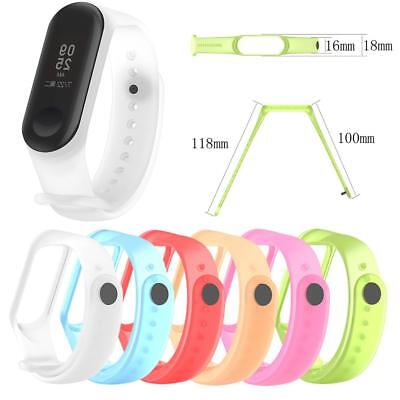 Half Transparent Silicone Replacement Wrist Strap Watch Band for Xiaomi Mi Band3