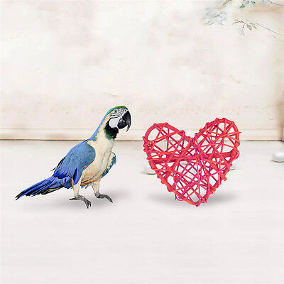 Pet Parrot Parakeet Bird Play Chew Toy Cockatiel Heart/Five-pointed Star Shaped