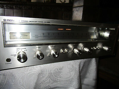 pioneer sx550 Stereo AM/FM Receiver vintage