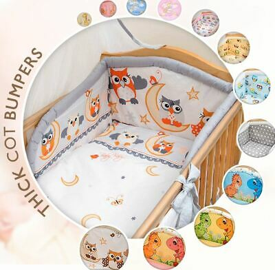 5 Piece Baby Kids Bedding Set Duvet Cover / Safety Bumper to fit Cot / Cot Bed