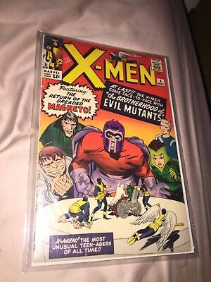 Rare 1964 Silver Age X-Men #4 Key Issue 1St Scarlet Witch Complete