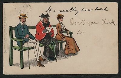 e1233)   A RAPHAEL TUCK WRITE AWAY COMIC POSTCARD SERIES #130 - FROM 1902