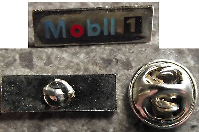 e2586)        PIN BACK  METAL BADGE   - MOBIL [1]