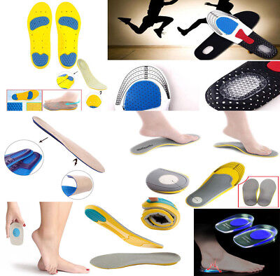 Premium Feet Support Orthotic Gel Pain Relief Massaging Sport Shoe Insoles DD