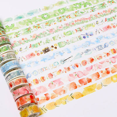 1 Roll Masking Tape Fruit Animal Cartoon Pattern DIY Craft Scrapbook Sticker Box
