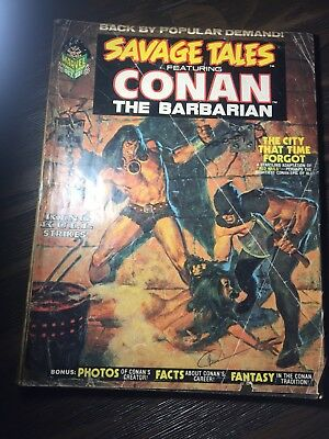 Savage Tales Featuring Conan The Barbarian #2 (Oct. 1973) Rare Marvel Comic