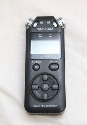 TASCAM DR-05 V2 Portable Audio Recorder with Omnidirectional Microphones - Black