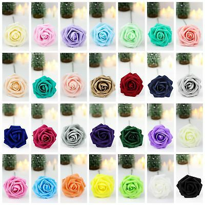 12X 50X Foam Rose Artificial Fake Flowers Party Wedding Bride Bouquet Home Decor