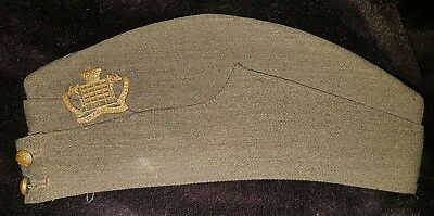 1939 Rare Khaki Side Cap To The Glostershire Yeomanry