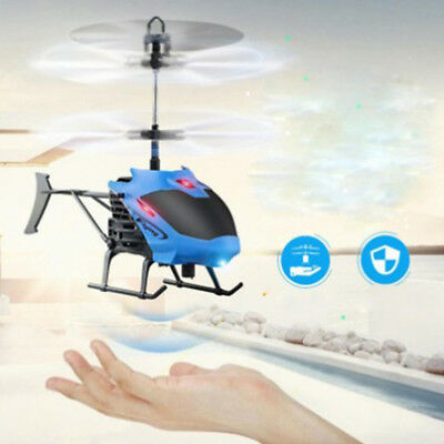 Mini Helicopter Induction Aircraft Remote Control RC Drone Flash Light Toys