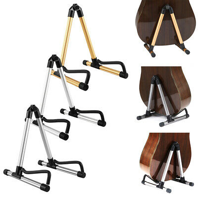 Foldable Guitar Stand A-Frame Music Floor Electric Acoustic Bass Universal UK