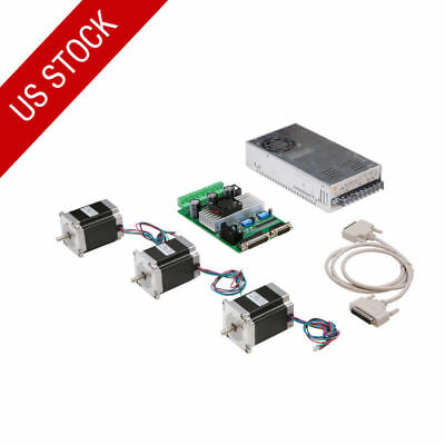US Free Ship! 3axis nema23 stepper motor 270oz.in 4leads 3A TB6560 boardCNC MILL