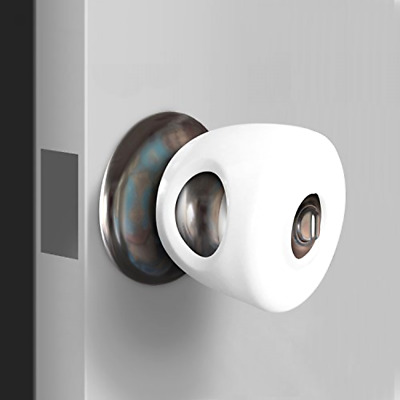 Safety Childproof Covers For Door Knobs Home Safe Use Plastic White 4 Packs