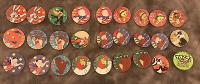26  Looney Tunes Purple Back Assorted Tazos With Slammer
