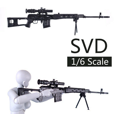 "1:6 SVD Dragonov Sniper Rifle US ARMY Gun Weapon Model 12"" Action Figure 1/6"