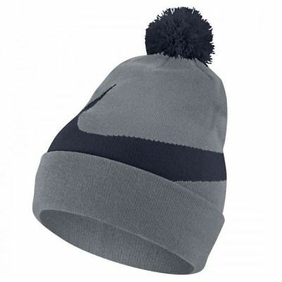 cheap for discount 724ec 90d41 Nike. Men s Exploded Swoosh Pom Pom Beanie   Grey Black