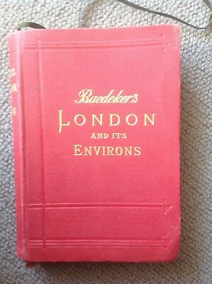 Baedeker's London and Its Environs 1908 Fifteenth Revised Edition
