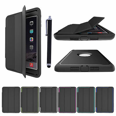 Shockproof Heavy Duty Smart Flip Hard Case Cover for iPad 2 3 4 mini Air Pro 9.7