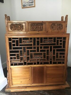antique chinese travelling blanket chest