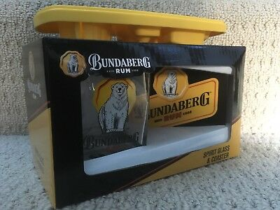 Bundaberg Rum Glass And Coaster Gift Pack With Good Times Ice Tray