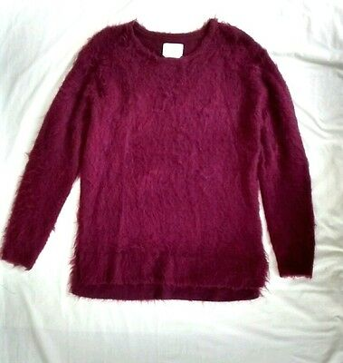 Urban Outfitters Your Neighbors M Plum Purple Soft Mohair Blend Sweater