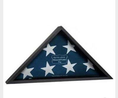 **Casket Flag** Black  Display CASE** Burial Flag*& Free shipping*