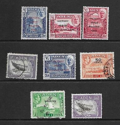 Aden stamp selection, British Empire, to 1/-, including overprints, see scan