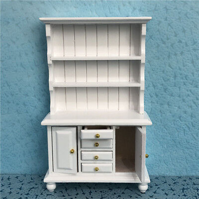 1/12 Doll House Miniature Furniture Kitchen Display Cabinet Cupboard Bookcase