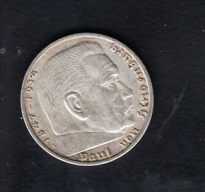 Germany Silver Coin , 5 Mark , 1936 Year