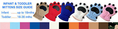 BEAR HANDS & BUDDIES Lot Chinstrap Fleece Hat and Mittens Thinsulate - SET OF 2