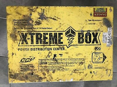 Coleman Cable 019603R02 50 Amp Xtreme-Box Temporary Power Distribution Center