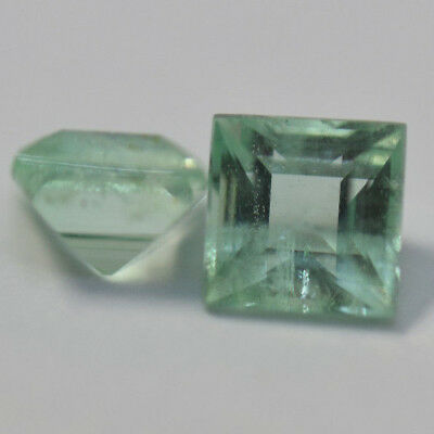 Emerald 0.31ct - calibrated pair of emerald cut natural Emeralds