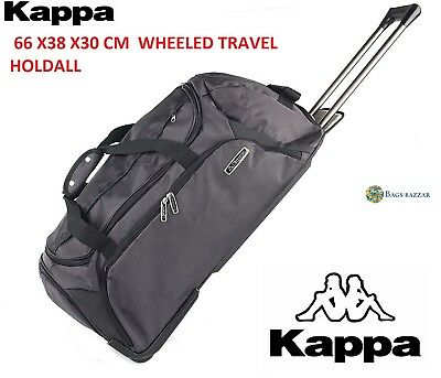 Official Kappa Branded Quality Wheeled Trolley Holdall Duffle Travel Bag 1904503