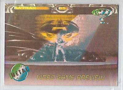 Batman Forever Metal trading cards VIDEO GAME PREVIEW Card # A-1.